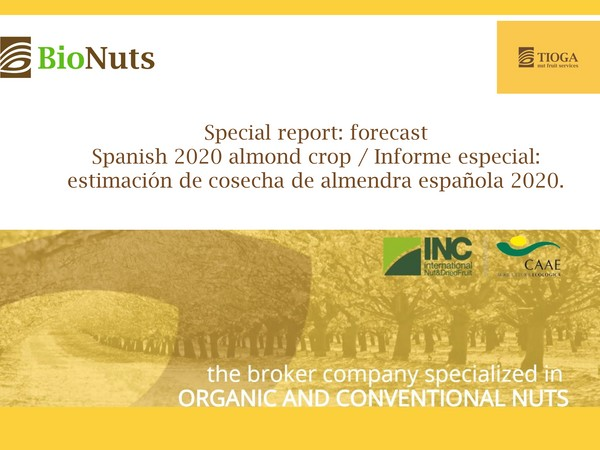 Breaking news: 2020 Spanish almond crop estimation AEOFRUSE and DESCALMENDRA